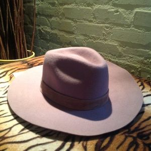 NEW! WYETH fawn wool/ suede  wide brim hat